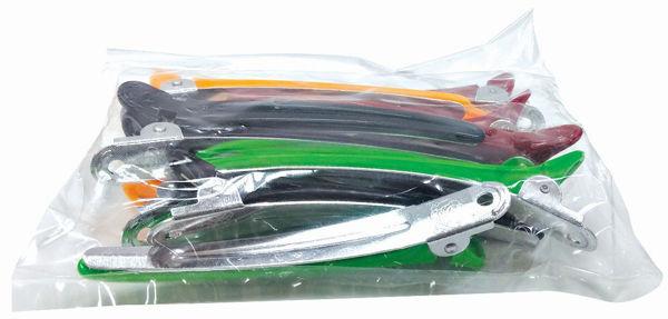 קליפס מתכת פלסטיק צבעוני (12 יח')