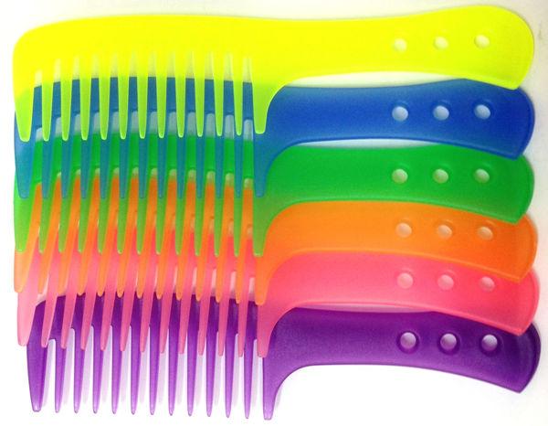 מסרק ידית צבעוני זוהר למקלחת