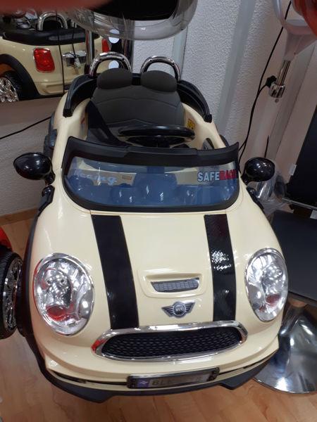 מכונית מיני קופר בצבע קרם - WD103